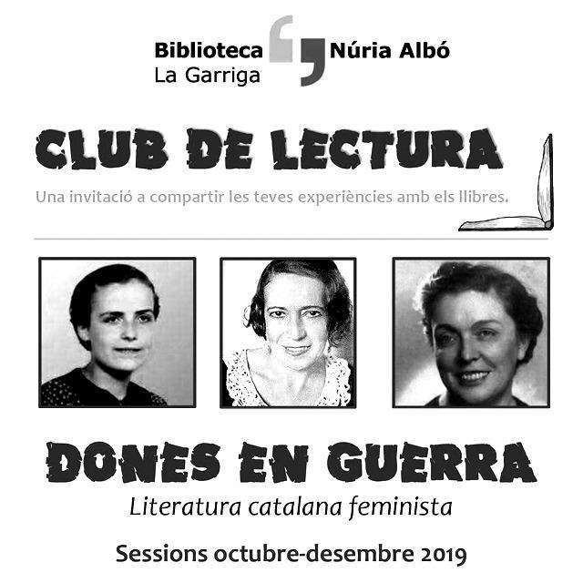 """CICLE LITERATURA CATALANA FEMINISTA: """"El bar. El Nadal de'n Pablo Nogales"""", de Cèlia Sunyol. La Garriga. Nadal és molt més"""