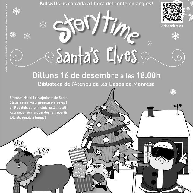 """Story Time: """"Santa's Elves"""". Manresa. Nadal és molt més"""